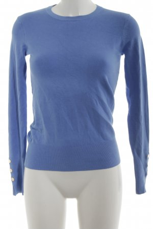 Zara Rundhalspullover blau Casual-Look
