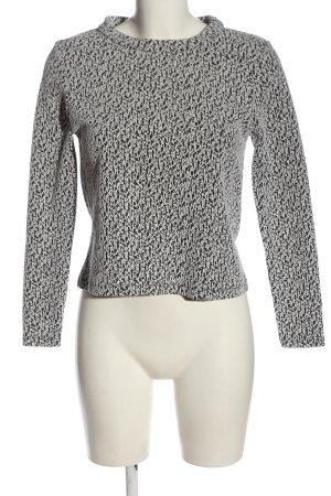 Zara Rundhalspullover schwarz-weiß meliert Casual-Look