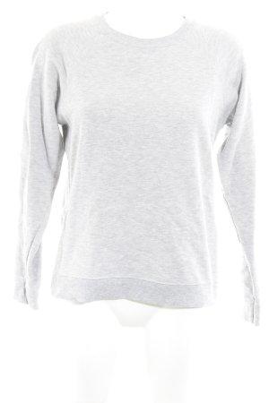 Zara Sweter z okrągłym dekoltem jasnoszary Melanżowy W stylu casual