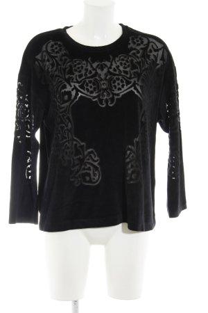 Zara Rundhalspullover schwarz Elegant