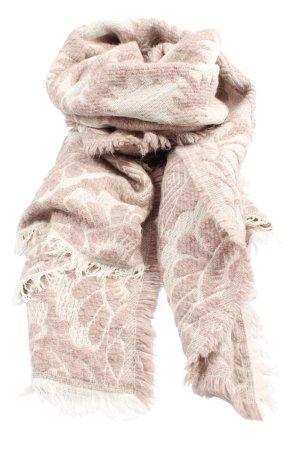 Zara Bufanda de flecos blanco puro-marrón look casual
