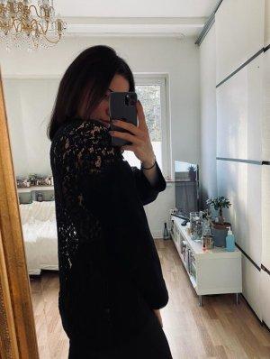 Zara S schwarz Spitze Sweatshirt