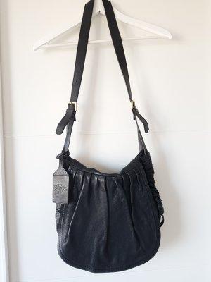 ZARA Saddlebag, Tasche, Leder, schwarz