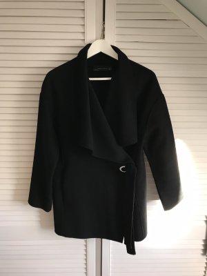 Zara Chaqueta de lana negro