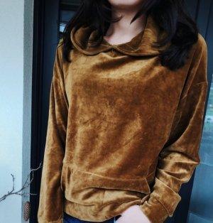 Zara Camicia con cappuccio marrone