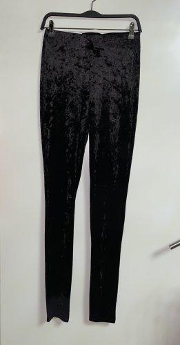 Zara Samt Leggings Hose Samthose High Waist L 40