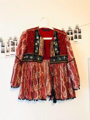Zara Veste chemisier multicolore