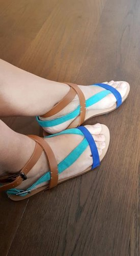 Trafaluc by Zara Espadrille Sandals neon blue
