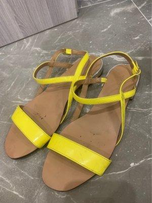 Zara Outdoor Sandals neon yellow