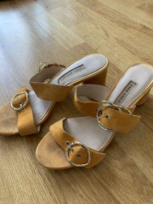 Zara Sandały z rzemykami żółty