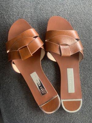 Zara Basic Sandales confort cognac-brun