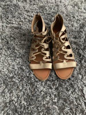 Zara Romeinse sandalen goud