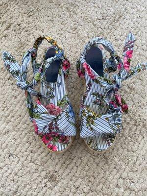 Zara Espadrille sandalen veelkleurig