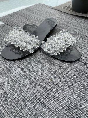 Zara Outdoor Sandals black-silver-colored