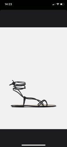 Zara Sandalen Schnür schwarz Neu gr 40