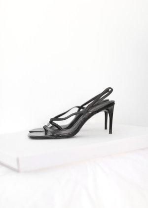 Zara Sandalo con cinturino nero Pelle