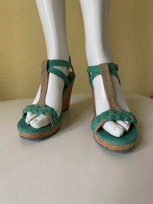 Zara Wedge Sandals forest green