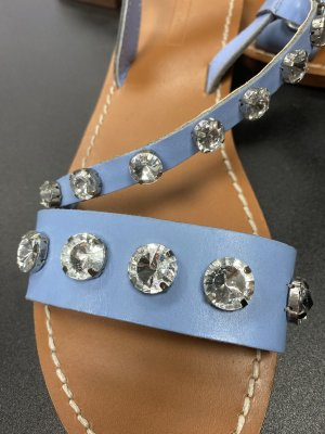 Zara Roman Sandals azure-cornflower blue
