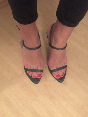Zara Sandaletten, heels,Pumps, grün