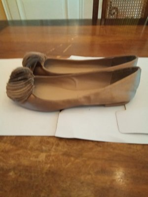 Zara Satin Ballerinas Gr 39 taupe