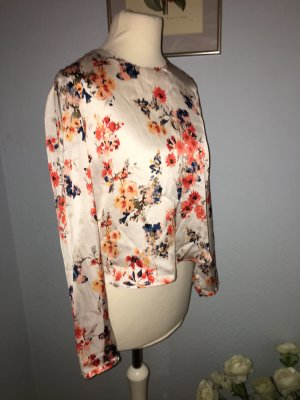 Zara Satin Flower Top