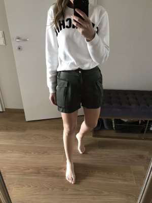 Zara Satin Shorts Khaki 34