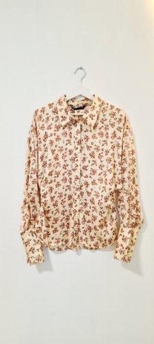 Zara/ Satiniertes Hemd mit Print/ Vanille/ Größe L/ Zustand: Neu mit Etikett