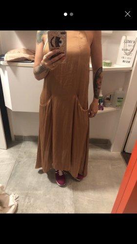 Zara Maxi abito beige-bronzo