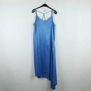 ZARA Satinkleid Gr. L blau NEU (19/12/212*)