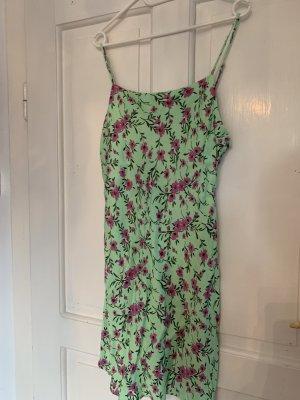 Zara Satinkleid in hellgrün Größe XL