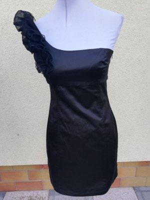 Zara Satinkleid one Shoulder Kleid Gr. 38