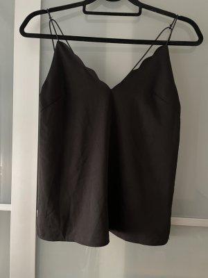 Zara Trafaluc Top con bretelline nero Poliestere