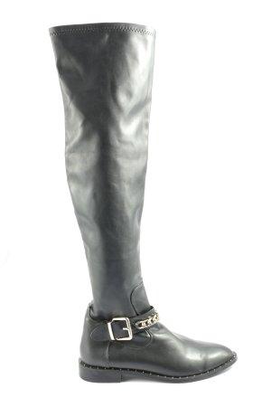 Zara Bottes à l'écuyère noir style décontracté