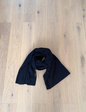 Zara Bufanda de lana azul oscuro