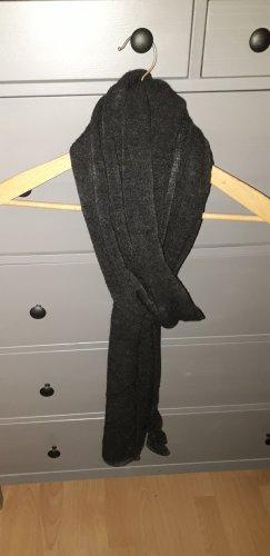 Zara Accesoires Woolen Scarf black-dark grey