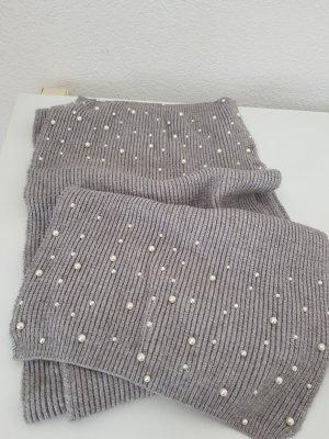 Zara Bufanda de punto gris claro-gris