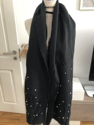 Zara Schal mit Perlen, schwarz