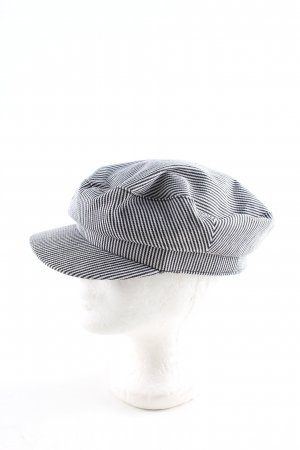 Zara Visor Cap black-white striped pattern casual look