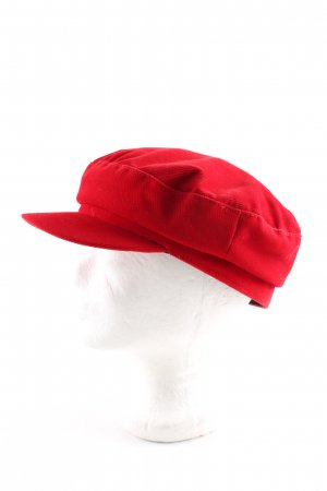 Zara Cappello con visiera rosso stile casual