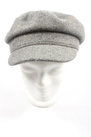 Zara Visor Cap light grey flecked casual look