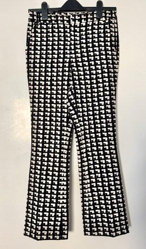 Zara Pantalon pattes d'éléphant blanc-noir polyester