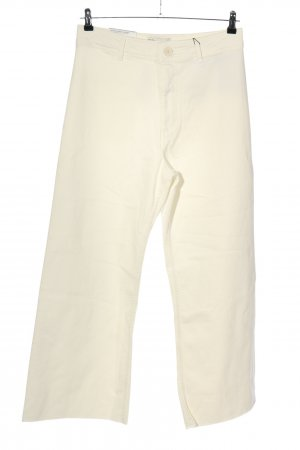 Zara Pantalon pattes d'éléphant crème style décontracté