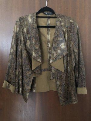 Zara Leather Blazer beige-brown