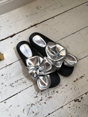 Zara Basic Outdoor Sandals black-silver-colored
