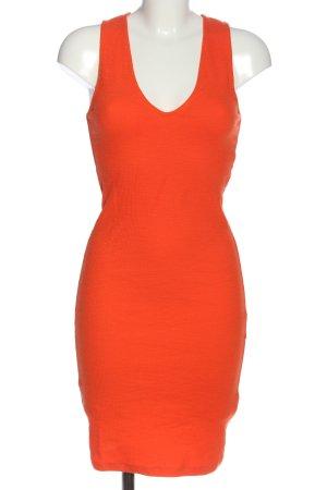 Zara Tube Dress light orange casual look