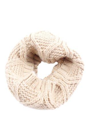 Zara Tube Scarf natural white cable stitch elegant