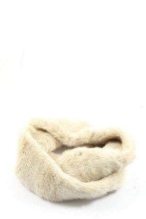 Zara Écharpe tube blanc cassé style décontracté