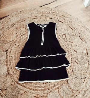 Zara Gebreide top wit-zwart