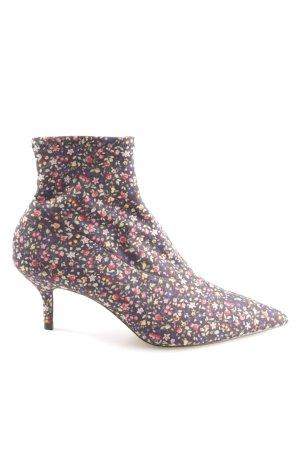 Zara Slip-on Booties flower pattern casual look