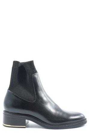 Zara Stivaletto slip-on nero stile casual